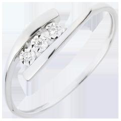 Bague Nid Précieux - Trillusion - or blanc - 18 carats