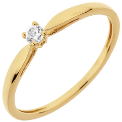 Bague Solitaire Roseau - diamant 0.07 carat