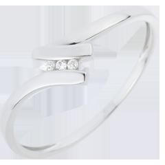 AnilloTrilogía Nido Precioso - Serena - oro blanco - 18 quilates