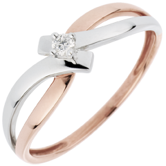 Anillo Solitario Brillo Eterno - Luz - diamante 0.05 quilates - 18 quilates