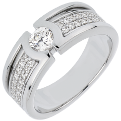 Anello di fidanzamento Costellazione - Diamante Solitario - diamante 0.35 carati