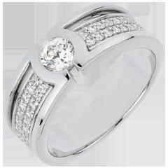 Anillo de pedida Constelación - diamante Solitario - diamante 0. 35 quilates