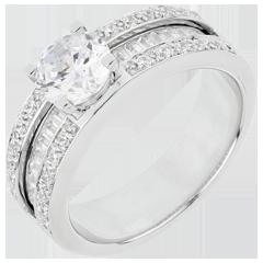 Anello di fidanzamento Destino - Costanza - oro bianco - 1 carato