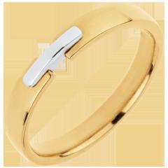Alliance Union D'Or - or blanc et or jaune 18 carats