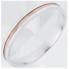 Alianza - Dúo todo oro - oro rosa y oro blanco