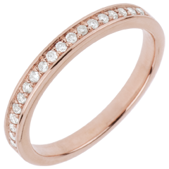 Alianza - diamante - oro rosa