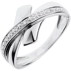 Bague Parure Initiatique or blanc et diamants