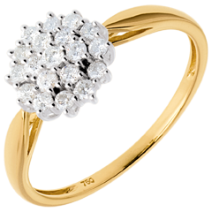 Anello Caleidoscopio pavé diamanti  - 0.35 carati - 19 diamanti