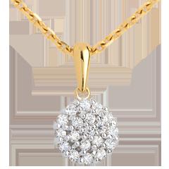 Ciondolo Caleidoscopio pavé diamanti - Oro giallo - 9 carati - 19 Diamanti - 0.19 carati