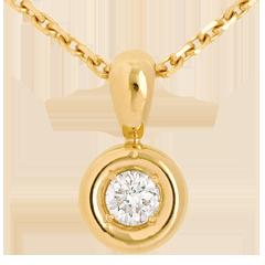 Pendentif Calice belière or jaune  - 0.18 carat