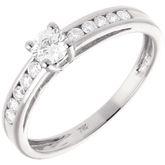 Solitaire Embellie or blanc  - 0.22 carat
