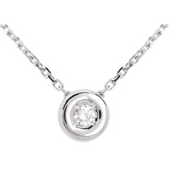 Collier Calice or blanc