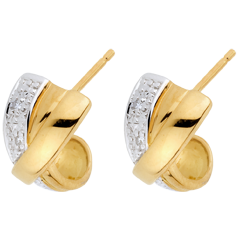 Pendientes Atracción - oro blanco y oro amarillo 18 quilates