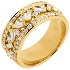 Anillo Destino - Emperatriz - oro amarillo y diamantes - 0. 85 quilates