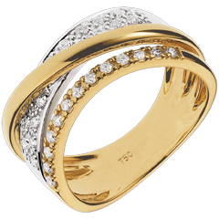Bague Royale Saturne variation - or jaune, or blanc