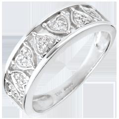 Anello Destino - Clotilde - oro bianco