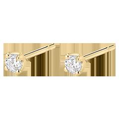 Boucles d'oreilles diamants  - puces or jaune 0.2 carat