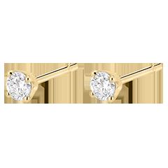 Boucles d'oreilles diamants  - puces or jaune - 0.25 carat