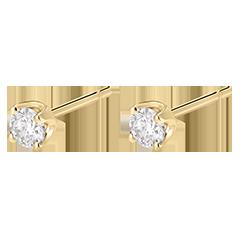 Boucles d'oreilles diamants  - puces or jaune - 0.3 carat