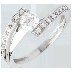Anello di fidanzamento Destino - Eleonora - oro bianco - diamante 0.37 carati