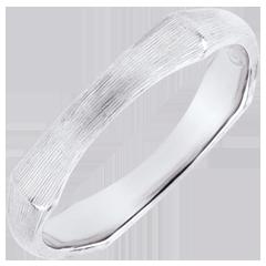 خاتم زواج رجالي الذغل المقدس ـ 4 مم ـ الذهب الأبيض المصقول 9 قيراط