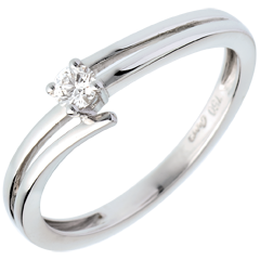 Solitaire sillage or blanc - 0.11 carat