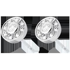 Boucles d'oreilles bouton or blanc  - 0.25 carats