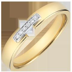 Alianza Unión Preciosa - oro amarillo 18 quilates y diamantes