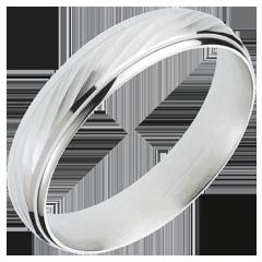 Fede nuziale - Vortice - Oro bianco - 18 carati