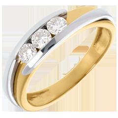 Trilogie Nid Précieux - Bipolaire - or jaune et or blanc - 0.38 carat - 18 carats