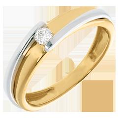 Solitaire bipolaire or jaune – or blanc  - 0.08 carat