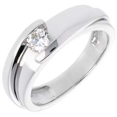 Solitario Brillo Eterno - Bipolar- oro blanco - diamante 0.31 quilates - 18 quilates