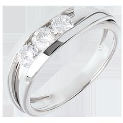 Trilogía Nido Precioso - Bipolar - oro blanco - 0.53 quilate - 3 diamantes - 18 quilates