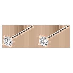 Diamanten oorbellen Frisheid - Schittering - 9 karaat roze goud en diamanten