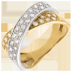 Bague tandem pavée  - - 0.5 carats - 36 diamants
