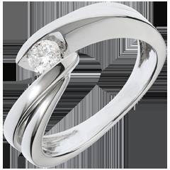 Solitario Nido Precioso - Ondina - oro blanco - 1 diamante: 0.21 quilates - 18 quilates