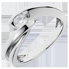 Solitario Nido Precioso - Ondina - oro blanco - 1 diamante: quilates 0.285 - 18 quilates