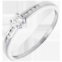 Solitario Ottava oro bianco  - 0.27 carati - 9 diamanti