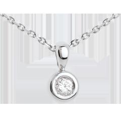Pendentif Calice diamant belière  - 0.18 carat