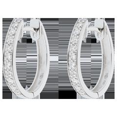 Boucles d'oreilles anneaux de Vénus - or blanc 18 carats