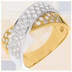 Anello Tandem pavé  - 0.8 carati - 57 diamanti
