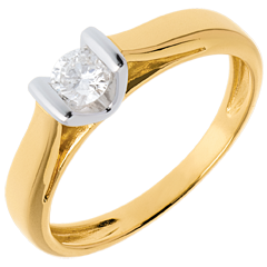 Solitario Caldera oro bianco-oro giallo   - 0.25 carati
