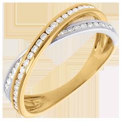 Diamantring Ellipse mit Diamanten besetzt - 0.26 Karat - 43 Diamanten