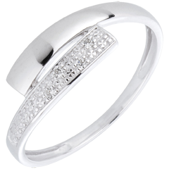 Bague Lumière or blanc diamants