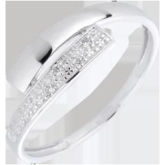 Anillo Lumière oro blanco diamantes