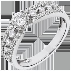 Solitario Destino - Zarina - oro bianco - diamante 0.28 carati