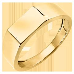 Ring Dämmerschein - Siegelring Hector - 18 Karat Gelbgold