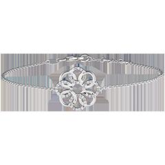 Brazalete Destino - Arabesco - oro blanco de 9 quilates y diamantes