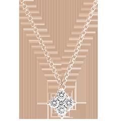 Colier Prospețime - Dina - aur roz de 9 carate și diamante