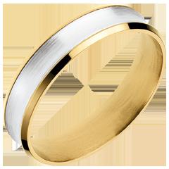 Fede Dandy oro giallo-oro bianco - 5mm